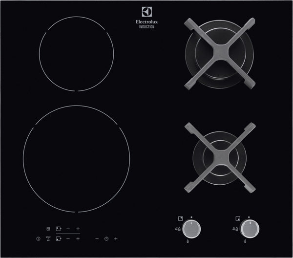 Electrolux EGD6576NOK- 60cm Induction-Gas Kitchen Hob