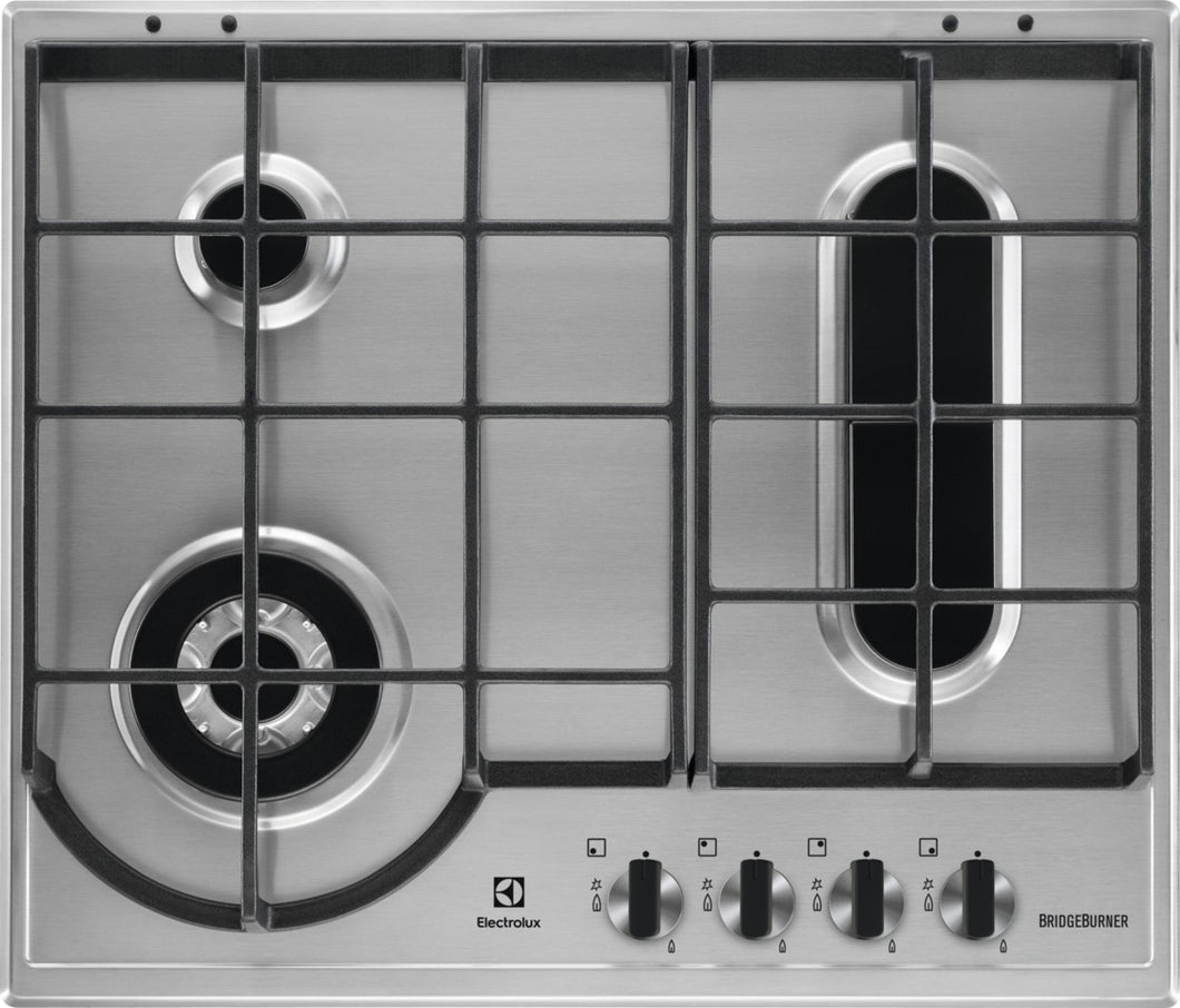 Electrolux EGH6349BOX- 60cm Bridge Burner Gas Kitchen Hob
