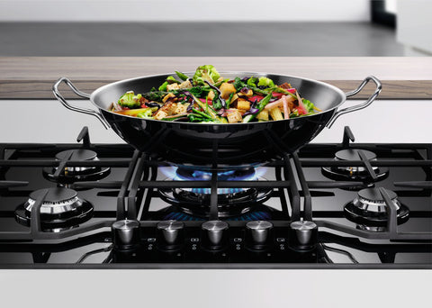 Electrolux KGG7536K- 75cm Black Ceramic glass Gas Kitchen Hob- WOK burner