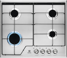 Load image into Gallery viewer, Electrolux KGS6424BX- 60cm Stainless steel Gas Kitchen Hob- SPEED burner