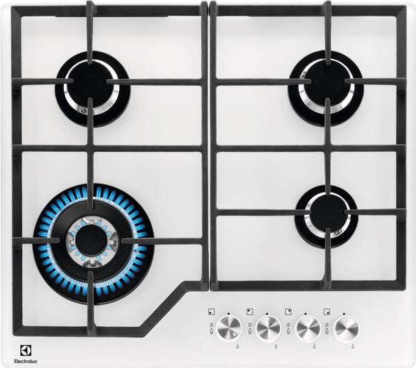 Electrolux EGG6436W- 60cm White Ceramic glass Gas Kitchen Hob