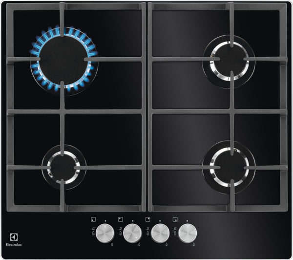 Electrolux EGG6426SK- 60cm Black Ceramic glass Gas Kitchen Hob