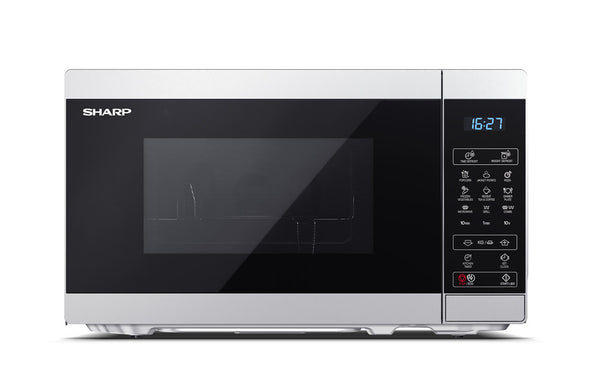 SHARP YC-MG02E-S- Freestanding Microwave with Grill 800W, 20L, 11 power levels