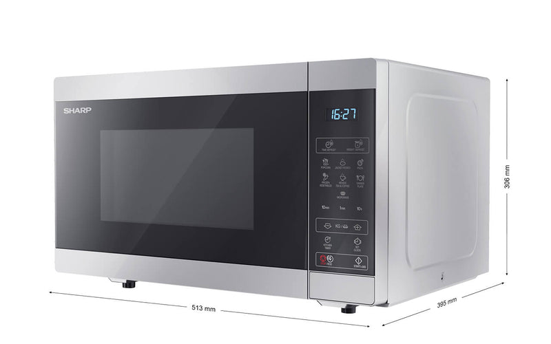 SHARP YC-MS51E-S- Freestanding Microwave 900W, 25L, 11 power levels