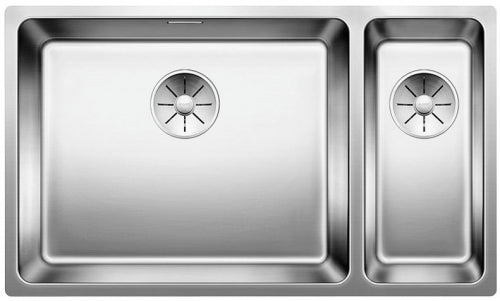 BLANCO ANDANO 500/180-U 522991 Stainless steel Undermount Kitchen Sink - InFino drain system