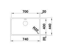 Load image into Gallery viewer, Blanco Andano 700-U Stainless Steel Undermount Kitchen Sink