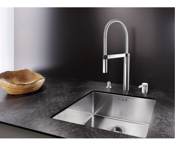BLANCO CULINA-S DUO - 519782 Chrome Pull-Out Kitchen Tap with separate control
