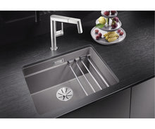Load image into Gallery viewer, Blanco Etagon 500-U InFino Undermount Kitchen Sink in SILGRANIT® PuraDur® 10 colours+Rails