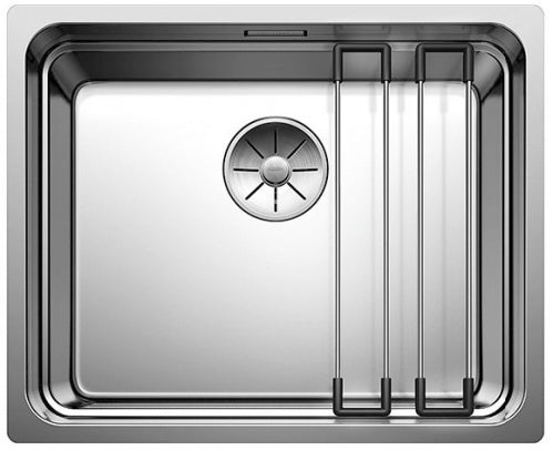 Blanco Etagon 500-U - 521841 Stainless Steel Undermount Kitchen Sink with InFino drain and Blanco rails
