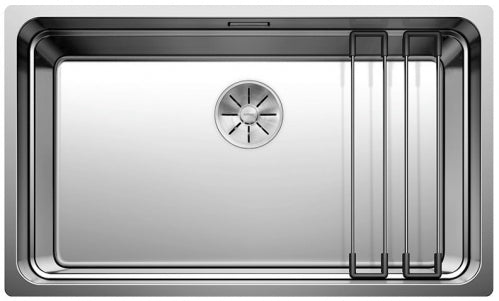 Blanco Etagon 700-U 524271 Stainless Steel Undermount Sink + Rails, Automatic Infino drain