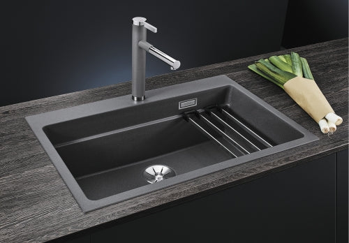 Blanco Etagon 8 In Set Kitchen Sink  InFino Drain System in SILGRANIT® PuraDur® 10 colours+Rails