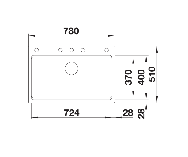 Blanco Etagon 8- 525178 Rock grey Inset Kitchen Sink in SILGRANIT - InFino Drain System, Blanco Rails, remote controlled strainer