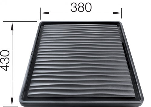 BLANCO 230734 Black Synthetic Draining Board 430x380mm