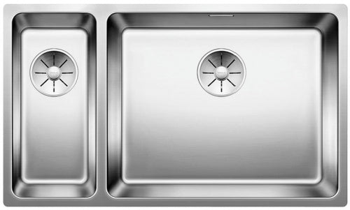 BLANCO ANDANO 500/180-U 522989 Stainless steel Undermount Kitchen Sink - InFino drain system