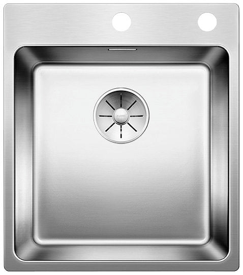 Blanco Andano 400-IF/A - 522993 Stainless Steel In Set/Flushmount Kitchen Sink with InFino remote controlled drain system