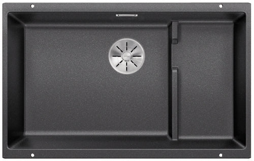 BLANCO SUBLINE 700-U LEVEL 523452 - Anthracite Silgranit Kitchen Sink- Undermount, InFino drain, Steel wire basket,