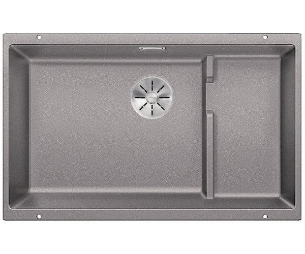 BLANCO SUBLINE 700-U LEVEL 523454 -  Alumetallic Silgranit Kitchen Sink- Undermount, InFino drain, Steel wire basket,