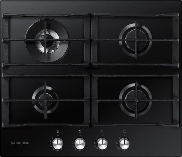 SAMSUNG NA64H3031AK- 60cm Black Glass Gas Kitchen Hob WOK Overlay