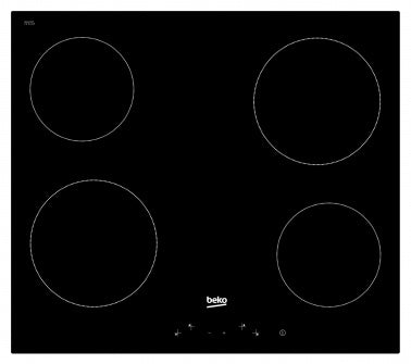 Beko HIC 64400 E- Electric Vitroceramic Kitchen Hob