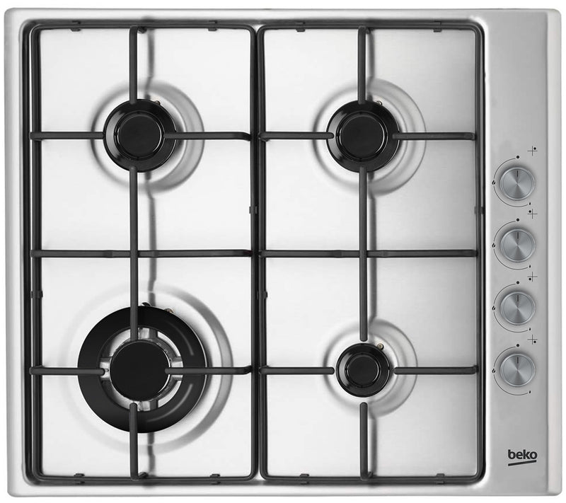 Beko HIZG 64124 SX- 60cm Built-in Stainless steel Kitchen Gas Hob, WOK burner