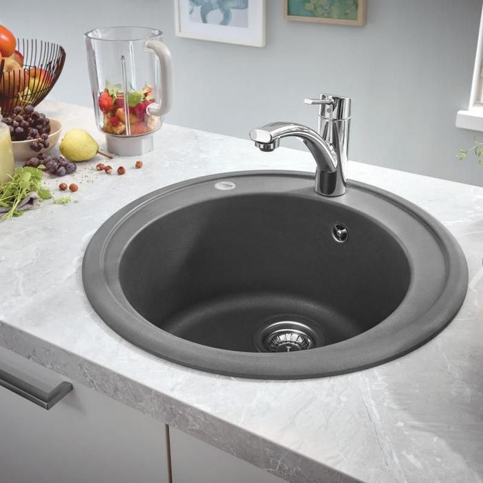 Grohe K200 -  31656AT0 Granite Gray Composite 1.0 Bowl Inset Kitchen Sink