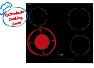 BEKO Built-in IndyFlex Induction Hob HI164400ATB