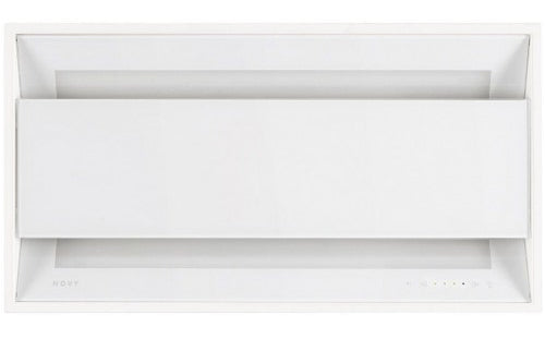 Novy 895 - 60cm White Glass Canopy Cooker Hood with Touch control and Remote control