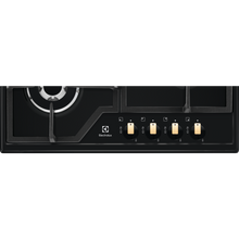 Load image into Gallery viewer, Electrolux EGS6436RK 60cm Black Ceramic Glass Gas Kitchen Hob
