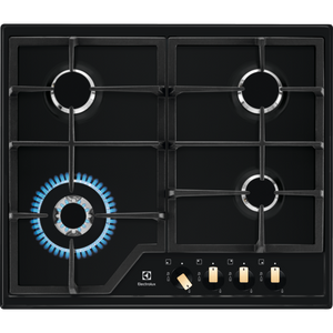 Electrolux EGS6436RK 60cm Black Ceramic Glass Gas Kitchen Hob