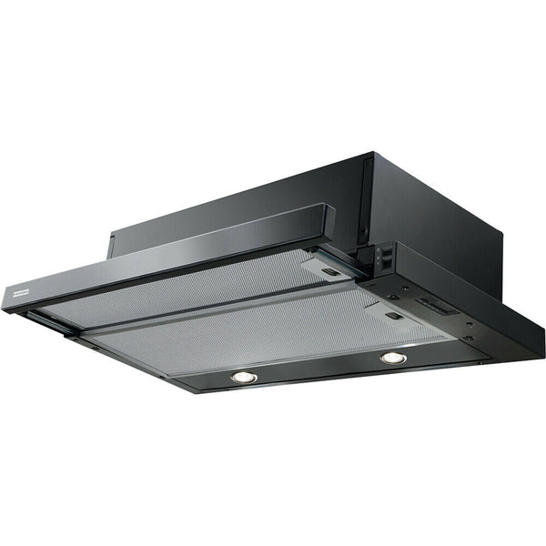 FRANKE FTC 601 BK/GL Built-In Telescopic Kitchen Cooker Hood BLACK GLASS finish