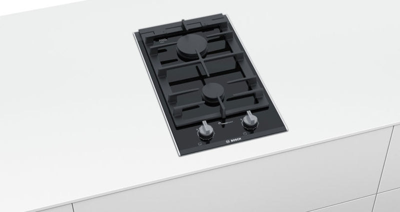 BOSCH PRB3A6D70- 30cm Built-in Black Ceramic Kitchen Gas Hob