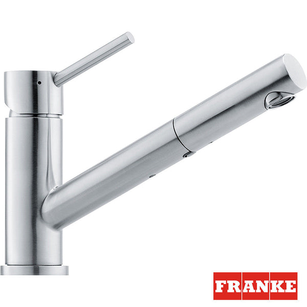Franke 115.0083.127 Eos Stainless Steel Kitchen Sink Tap with Pull-Out Spout Grey