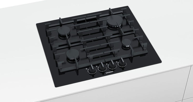 SIEMENS EP6A6PB90- 60cm Bulit-in Gas Kitchen Hob Black Glass