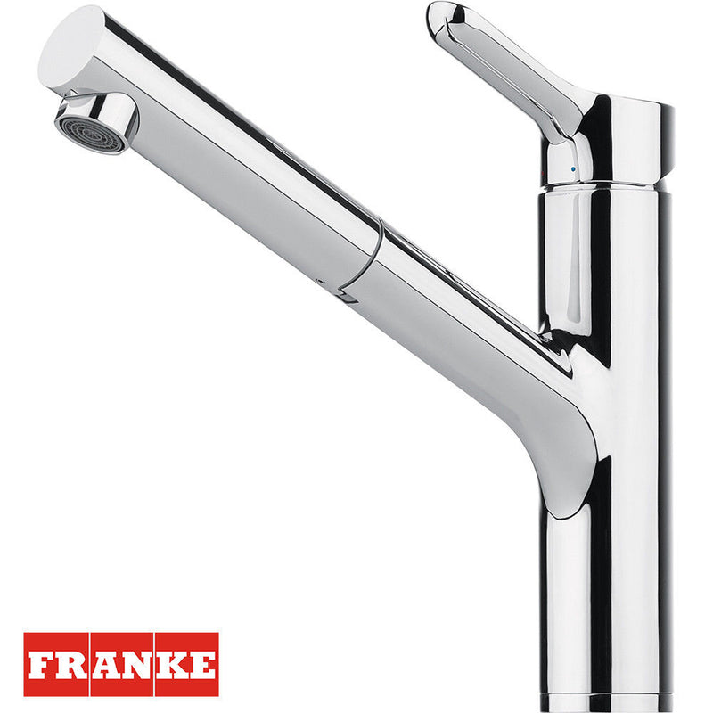 FRANKE MEOS CHROME PULL OUT SINGLE LEVER KITCHEN TAP