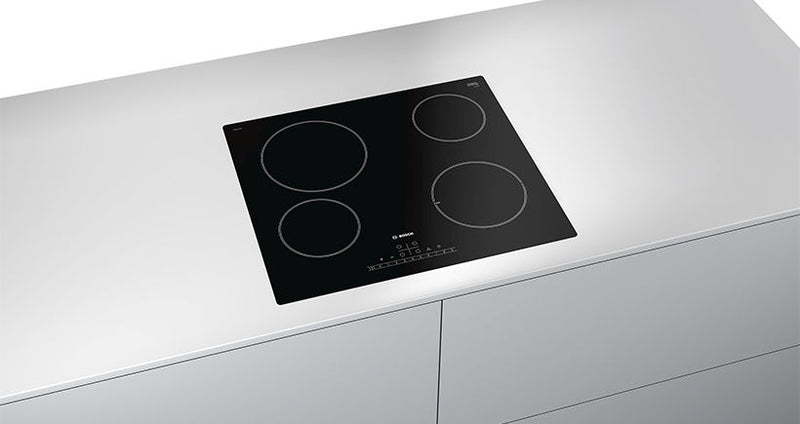 BOSCH PKE611FP1E- Built-in Black Frameless Electric Ceramic Kitchen Hob
