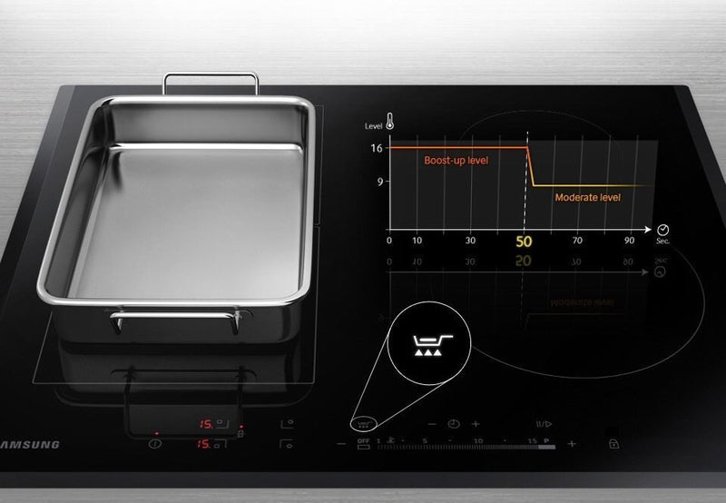 SAMSUNG NZ64H57477K- 60cm Induction Kitchen Hob Black Ceramic Flex Zone