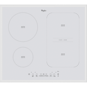 Whirlpool ACM 808 BA/WH 60cm Induction White Glass Ceramic Kitchen Hob