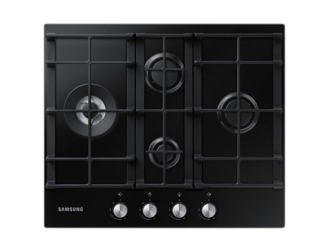 SAMSUNG NA64H3030BK- 60cm Black Glass Gas Kitchen Hob WOK Overlay