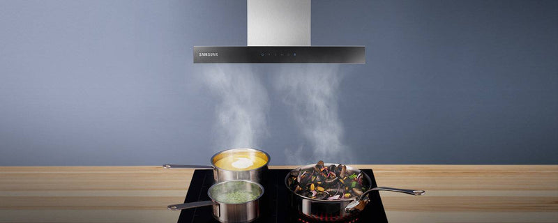 SAMSUNG NK24M5070BS- 60cm Black glass/Stainless steel Chimney COOKER HOOD