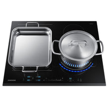 Load image into Gallery viewer, SAMSUNG NZ64N9777BK- Chef Collection Virtual Flame Induction Hob Black Glass