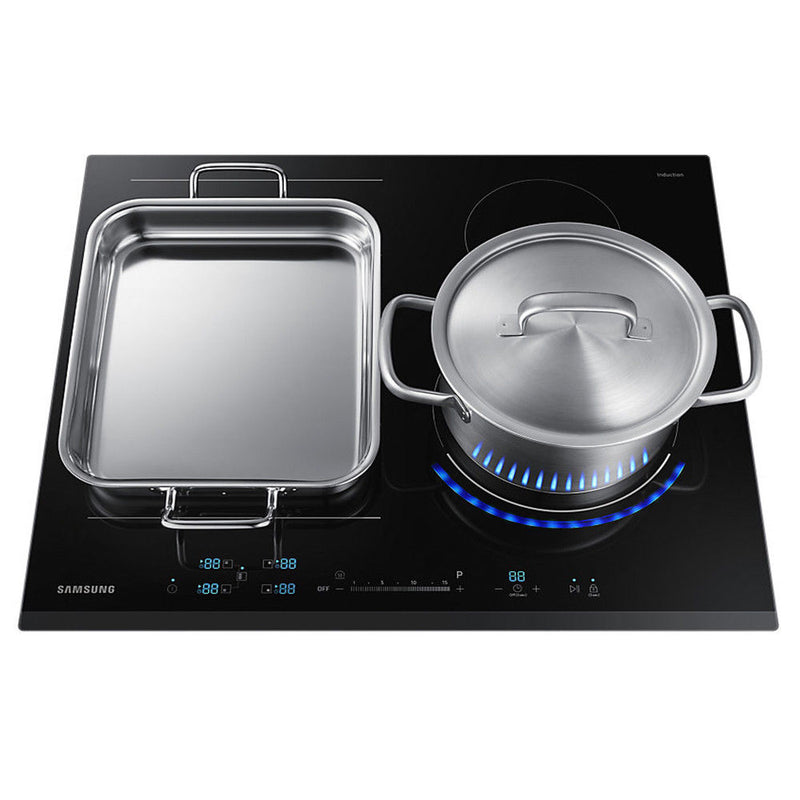 SAMSUNG NZ64N9777BK- Chef Collection Virtual Flame Induction Hob Black Glass