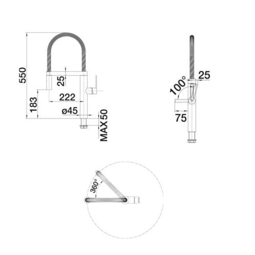 BLANCO CULINA-S- CHROME Pull-Out Kitchen Tap