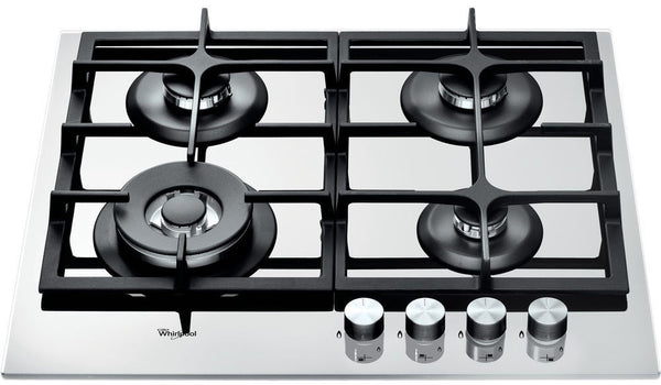 Whirlpool AKT 6465/WH - Built In White Glass Kitchen Gas Hob
