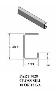 "1 3/4"" Cross Sill / Single Return Leg"