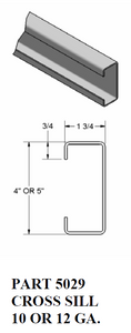 "1 3/4"" Cross Sill / Return Legs"