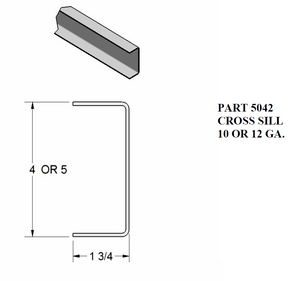"1 3/4"" Cross Sill - C-Channel"