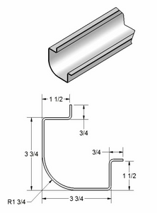 "1 3/4"" Radius Corner Post w/leg out"