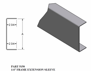 Frame Extension Sleve