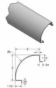 "5"" Radius Corner Post w/ Legs out"