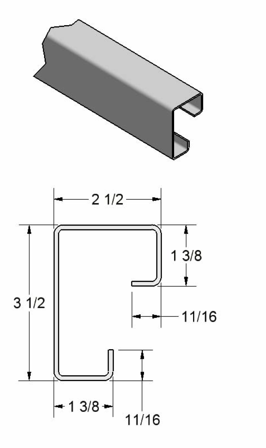 Square Corner Post w/ Return Legs
